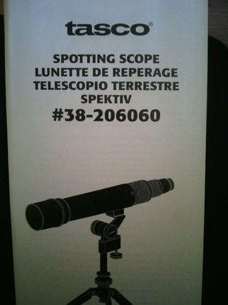 Telescopio tererrestre Tasco