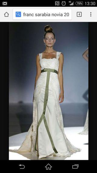 Vestido novia Franc sarabia