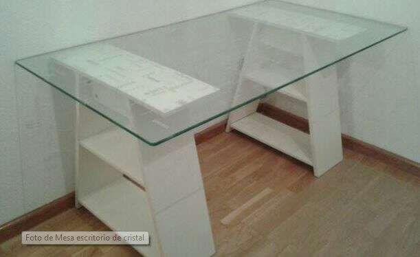 Mesa ikea escritorio cristal modelo love de segunda mano for Mesa escritorio ikea