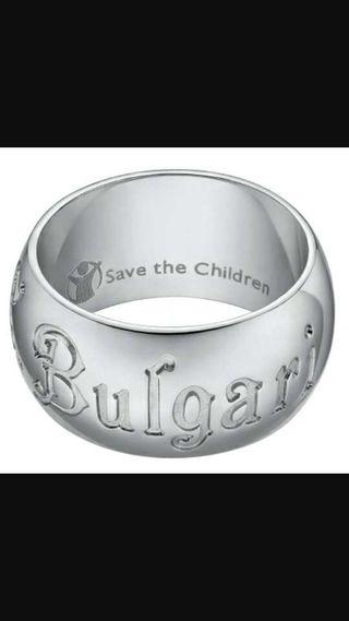 Anillo bulgari save the children original plata