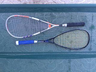 Raquetas de squash.