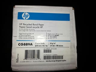 Papel normal 610mm 80g/m3 para plotter HP CG889A