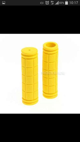 Puños de silicona antideslizante color amarillo