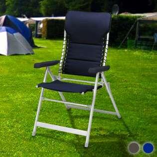 silla de camping acolchada