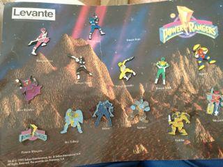 Colección de pins Power Rangers
