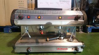 Maquina de cafe marcf de dos grupos semiautomatica