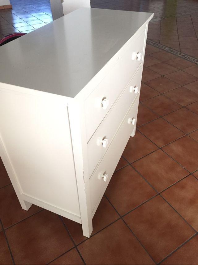 C moda hemnes de ikea de segunda mano por 80 en valencia en wallapop - Comoda blanca ikea ...