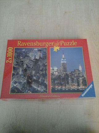 2 puzzles de 1000 pzs cada uno