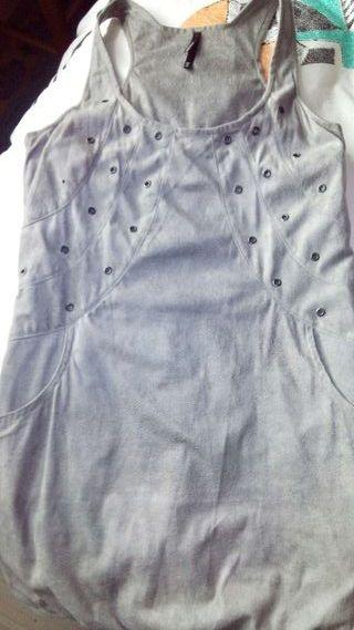 Vestido de antelina de Breshka.TM..gris clarito