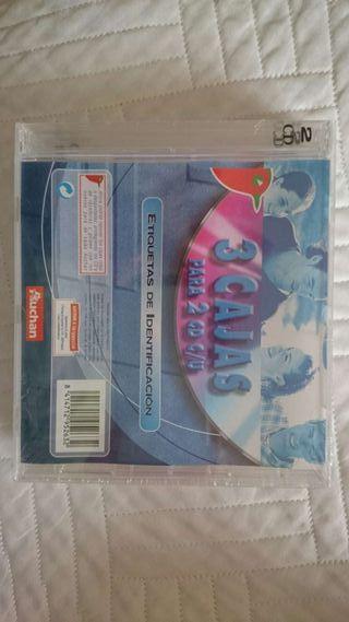 Tres cajas dobles para cd