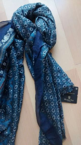 foulard Maximo Dutti Azul