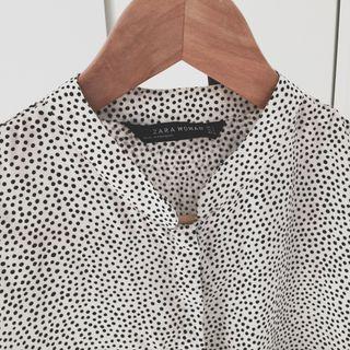 Camisa Topos Zara Woman Talla S