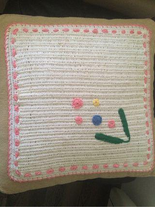 Cuadrante Cojín Novia Crochet