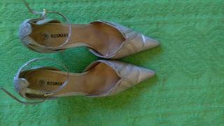 Zapatos fiesta dorados talla 39
