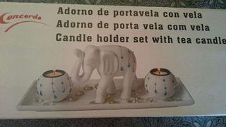 Adorno portavela elefante