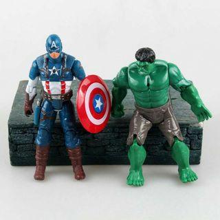 Pack 7 superheroes articulados 17cm