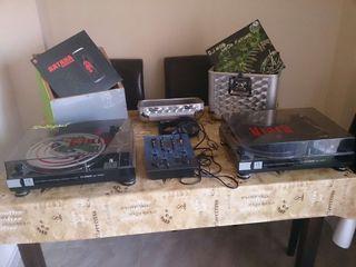 Platos mesa, de mezclas y discos con accesorios.