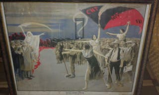 Cartel revolucion social y marco antiguos