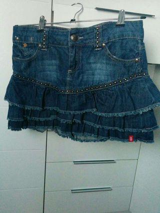 Mini falda vaquera tachuelas EDC Sprit