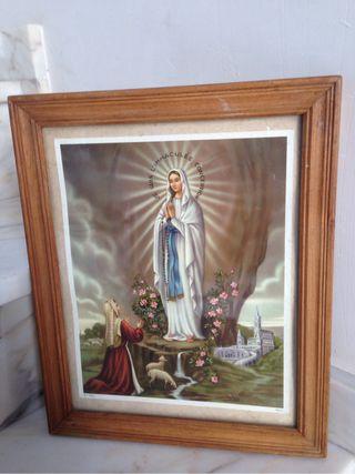 Estampa De La Virgen De loudres