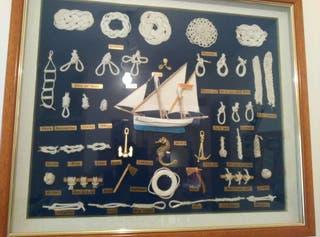 Cuadro artesanal nudos marineros