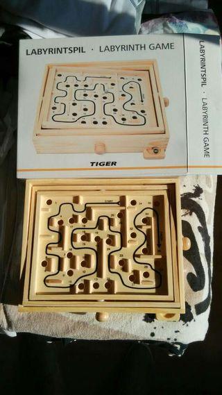 Laberinto de madera grande juego juguete tiger