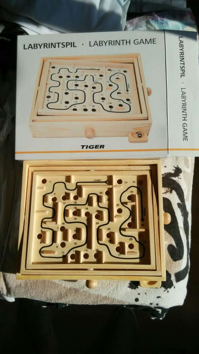 Laberinto De Madera Grande Juego Juguete Tiger De Segunda Mano Por 5