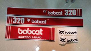Juego completo pegatinas Bobcat 320