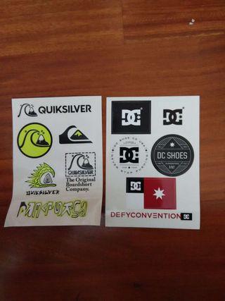 Pegatinas quicksilver y DG