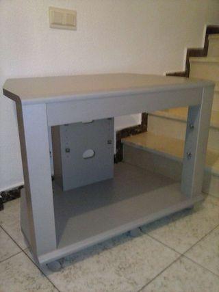 Mesa centro ruedas televisor mueble madera de segunda mano por 30 en sant fost de - Mesa centro ruedas ...