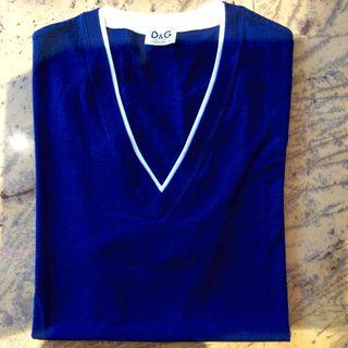 Camiseta Azul D & G Hombre