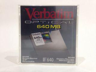 Disco Magneto Óptico Verbatim de 640 MB