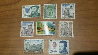 Sellos nuevos de entre 20 y 5 pesetas