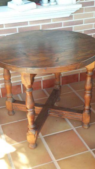 Mesa redonda de madera de segunda mano por 80 en la for Wallapop mesas
