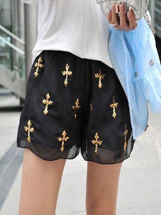 Shorts Cruces Doradas