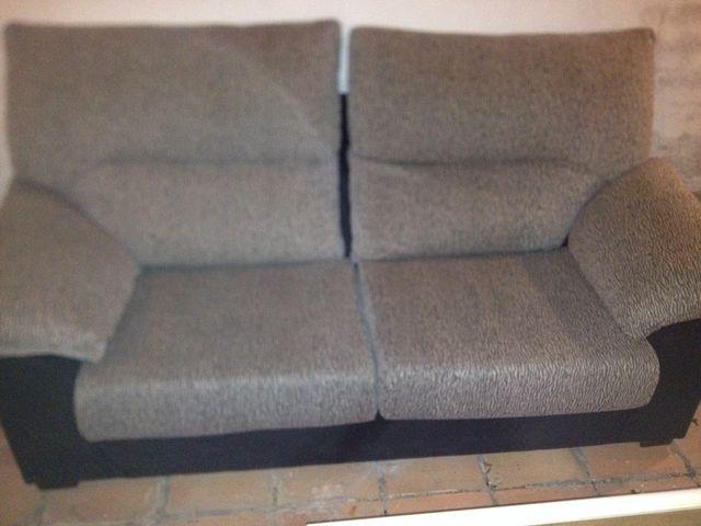Sofas 3+2 Negro/gris