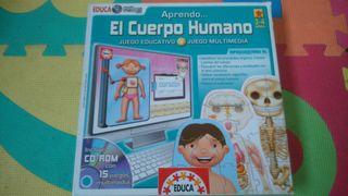 Juego Aprendo el cuerpo humano de educa