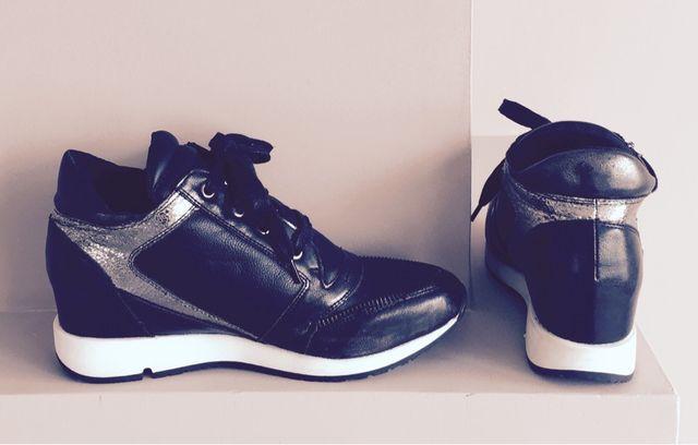 Basket Sneakers Compensés PotiPati Noir & Argent