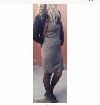 Vestido De Espiga Zara