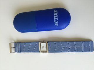Reloj Mano Azul De € Por Alicante Claro En Piel Actime 20 Segunda bHWD2IYeE9