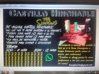 Se alquila Castillo Hinchable