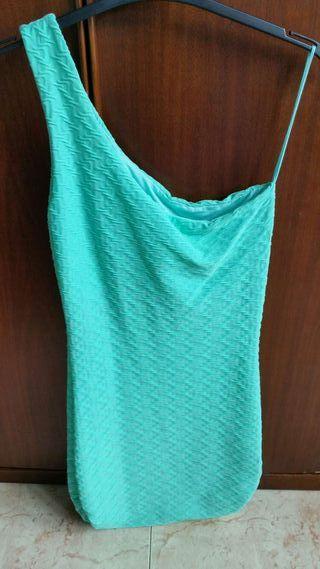 Vestido ajustado verde agua