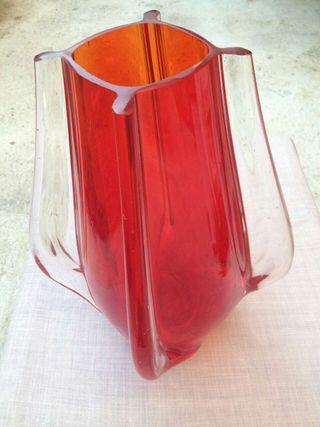 Gran Jarron de cristal rojo