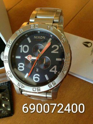 Reloj nixon 51-30 silver nave (garantia)