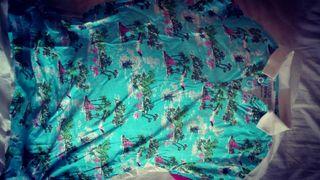 Polo Haway palmeras y flores. Tropical. Calypso.