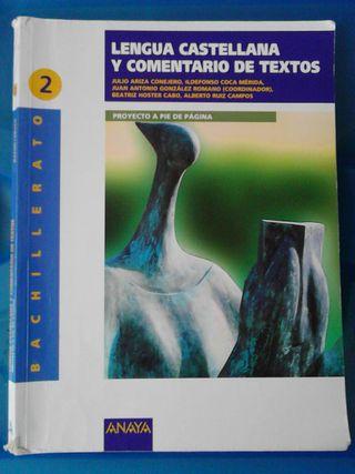 Lengua castellana y textos 2° BACH.