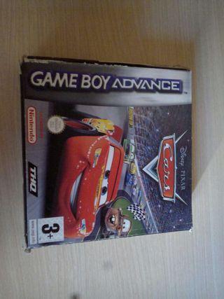 Caja del Juego Cars de gameboy