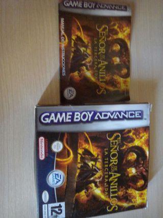 Caja Juego GameBoy el Señor de los Anillos