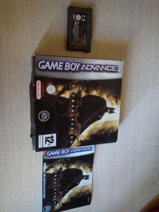 Juego Batman Begins para gameboy con caja e instrucciones