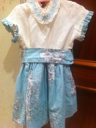 Vestido Niña Talla 5 Baja Costura